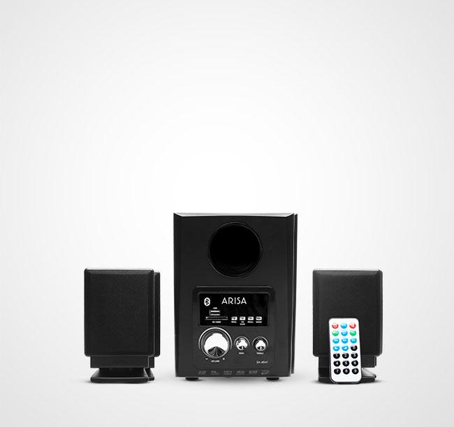 Speaker Aktif SA - 4041 - Black Silver